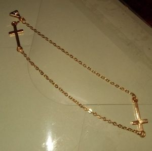 Jewelry - 14k gold double cross bracelet